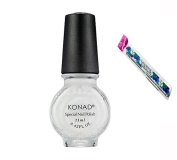 Konad Stamping Nail Art DIY 11ml Special Nail Polish White with One Ganda Nail Buffer