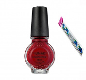 Konad Stamping Nail Art DIY 11ml Special Nail Polish Red Wine with One Ganda Nail Buffer