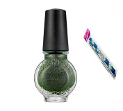 Konad Stamping Nail Art DIY 11ml Special Nail Polish Moss Green with One Ganda Nail Buffer