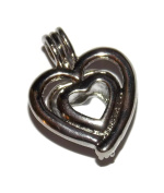 Heart Pearl Cage Pendant for Pick a Pearl - Old School Geekery TM Brand Jewellery Making Supplies
