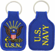 UNITED STATES NAVY LOGO KEY CHAIN - Multi-Coloured - Veteran Owned Business