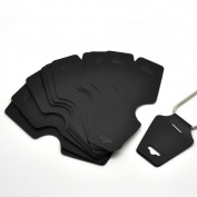 AKOAK 100 Pcs Large Size:12.5cm x 5 cm Blank Black Cardboard Paper Necklace Display Cards Bracelet Display Cards Jewellery Display Hanging Cards