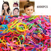 JIAHUI 4000 pcs Multi Candy Colour Tpu Baby Girl's Kids Hair Holder Hair Tie Elastic Rubber Bands