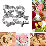 Lieomo 12Pcs Stainless Steel Cookie Fondant Cake Paste Mould Cutter Decor DIY Tool