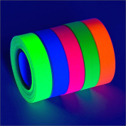 5-Pack UV Blacklight Reactive Fluorescent / Neon Gaffer Tape Matte Finish (various sizes)
