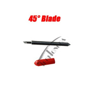3pcs 45 Degree Roland Vinyl Plotter Blades with Red Roland Blade holder for PU Vinyl Cutting Plotter