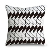 FabricMCC Black and White Geometric Square Decorative Throw Pillow Case Cushion Cover 18x18