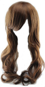 Simpleyourstyle Long Curl Wavy Wigs for Students Women Black Brown wigs for Women Light Brown