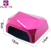 KADS 36W Nail Dryer-Lumcrissy Professional Diamond Shaped CCFL & LED UV Nail Lamp (UV & LED 2 in 1 Nail Gel Lamp), Curing Nail Dryer for LED UV Gel Nail Polish Nail Tools