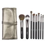 Matto Goat Hair Makeup Brushes Professional 8-Piece Travel Makeup Brush Set Make Up Brushes with Bag