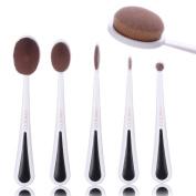 Oval Makeup Brush Set, 5 Pcs Professional Makeup Brush Kit, Foundation Brush, Cream Contour Powder Blush Concealer Brush, Makeup Cosmetics Tool Set