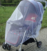 SZHOWORLD Universal Multi-function 150110cm Baby Cart Full Cover Mosquito Net Travel System Insect Netting Mosquito Insect Bee Bug Net Fits Most Strollers Bassinets, Cradles and Car Seats White