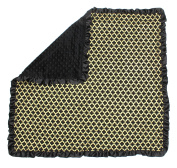 Dear Baby Gear Baby Blankets, Iron Gate Gold on Black, Black Minky