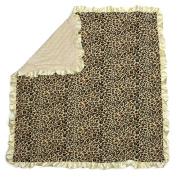 Dear Baby Gear Baby Blankets, Leopard, Ivory Minky