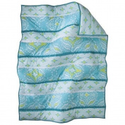Mudhut Dawn Teal Baby Blanket 30x40