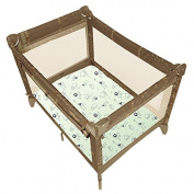 Kushies Baby Portable Playpen Fitted Sheet GREEN SAFARI, Fits Mattress