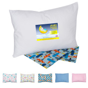 Angel Dreams Toddler Pillow 13x18 Bundle with Organic Tailored Pillowcase