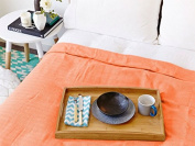 Eshma Mardini Turkish Cotton Quilt Bed Spread Blanket Bed Cover for All Season 250cm x 200cm - Orange