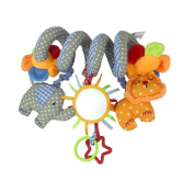 Hysagtek Baby Music Bed Hanging Elepahant Lion with Mirror and Bell Twisty Curly toy