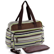 Fashion Stripe Mummy Handbag Baby Nappy Nappy Changing Bag