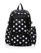 BayB Brand Colorland Nappy Backpack - Black Polka Dots