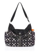 BayB Brand Colorland Nappy Tote Bag - Grey Dots