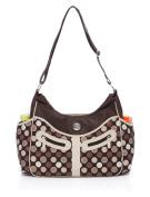 BayB Brand Colorland Nappy Tote Bag - Brown Dots