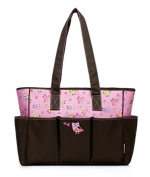 BayB Brand Colorland Nappy Tote Bag - Owl Family