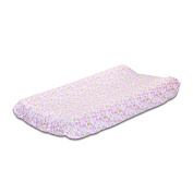 Leila Lavender Floral Baby Changing Pad Cover by Petit Tresor