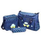 4pcs Baby Changing Nappy Bag Mummy Shoulderbag Handbag Set Dark Blue NEW HOT