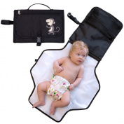Portable Nappy Changing Pad - Premium Quality Baby Nappy Change Mat Station with Stroller Hook and loop Tab - Portable Baby Travel Kits
