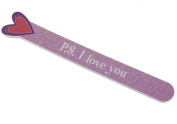 Heart Die-cut Nail File - P.S. I love you