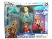Disney Frozen Bath Time Buddies Set! 3 in 1 Body Wash, Shampoo and Conditioner 300ml! Bubble Bath 300ml! Includes Two Squirter Bath Pouffes!