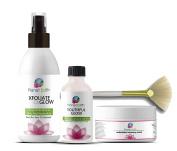 Planet Eden 70% Glycolic Acid Chemical Skin Peel Kit + Organic Botanical Peel Neutralizer+ 30ml Antioxidant Recovery Cream + Treatment Fan Brush