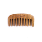 Breezelike Sandalwood Comb - Hair and Beard Comb - No Static Natural Detangler - Handmade Wooden Wide Tooth Mini Pocket Comb
