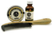 2 Bits Beard Grooming Set - The Woods - All Natural Fragrance of Cedarwood and Pine