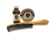 2 Bits Beard Grooming Set - The Classic - All Natural Fragrance of Cedarwood and Clove