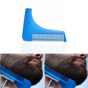 Men's Premium Grooming Guide Tool - Style Your Facial Hair with Perfect Symmetry, Ideal for Shaving your Beard, Goatee, Jaw Line, Moustache and Sideburns, Lightweight Beard Shaping Tool Made for You