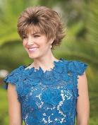 MASON Monofilament Wig #1632 designed by Noriko for Rene of Paris plus a FREE Revlon Wig Lift Comb! by Aderans