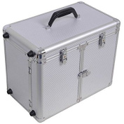Makeup and Hair Stylist Rolling Case in Aluminium