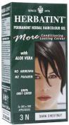 Herbatint Haircolor Gel/Permanent - 3N/Dark Chestnut, 120ml ( Multi-Pack) by HERBATINT
