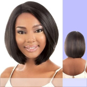 LDP-FINE (Motown Tress) - Heat Resistant Fibre Lace Front Wig in DARKEST BROWN by Oradell International Corporation