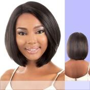 LDP-FINE (Motown Tress) - Heat Resistant Fibre Lace Front Wig in DARKEST BROWN by Oradell International Corporation