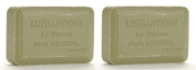Lothantique Authentique Olive Lavender Shea Butter Vegetable Bar Soap - 2 Bars, 200g Each