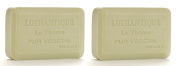 Lothantique Authentique Linden Shea Butter Vegetable Bar Soap - 2 Bars, 200g Each