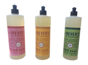 Mrs. Meyer's Clean Day Holiday Collection Liquid Dish Soap bundle (Iowa Pine, Orange Clove, and Peppermint scent 470ml, 3pk