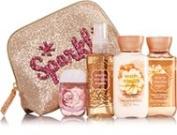 Bath & Body Works WARM VANILLA SUGAR Merry On-the-Go Gift Set Trio Travel Size Gift Set