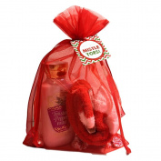 Bath and Body Works Gift Sets Christmas Gift Baskets w/Peppermint Lotion and Hershey Peppermint Kisses-Perfect Teacher Gifts for Christmas