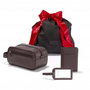 The Jetsetter For Him Gift Set - Full Grain Leather Leather - Chocolate Brown