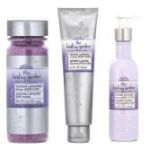 The Healing Garden Tender Lavender Gift Bundle - Mineral Bath Soak 280ml, Cleansing Body Wash 190ml, Whipped Body Lotion 190ml